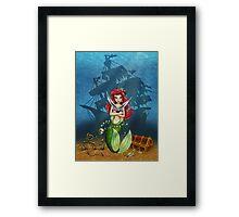Siren's Shipwreck Framed Print