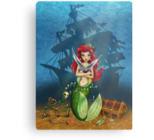 Siren's Shipwreck Metal Print