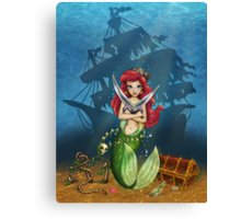 Siren's Shipwreck Canvas Print
