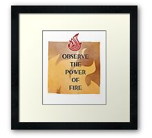 Fire Attunement Framed Print