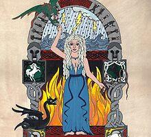 Daenerys Stormborn Targaryen, the Khaleesi illumination by rfabiano