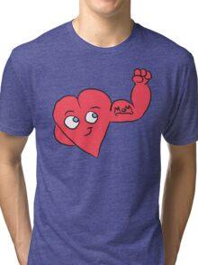 Mom Tattoo Heart Tri-blend T-Shirt