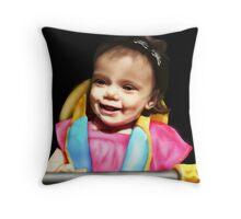 my sweet girl - airbrush Throw Pillow