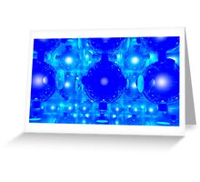One Blue Ball and One Light..... Greeting Card