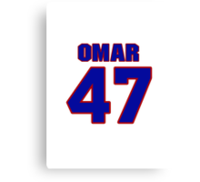National baseball player Omar Olivares jersey 47 Canvas Print