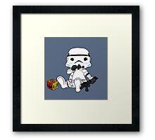 Baby stormtrooper design Framed Print