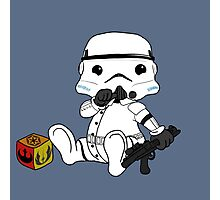 Baby stormtrooper design Photographic Print