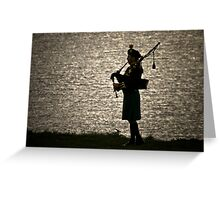 the Lone Piper Greeting Card