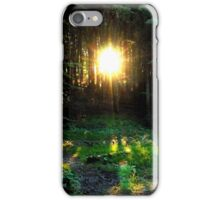 Golden rays iPhone Case/Skin