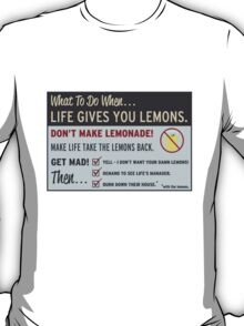 Cave Johnson, Lemons T-Shirt