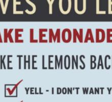 Cave Johnson, Lemons Sticker