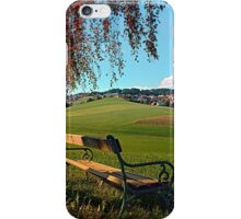Bench under the tree | landscape photography iPhone Case/Skin