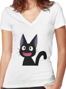 Jiji - Kiki's Delivery Service Women's Fitted V-Neck T-Shirt