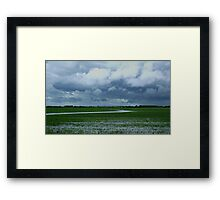 Wet day On The Prairies Framed Print
