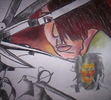 Edward Scissorhands: Experimenting with media by CharcoalPoet