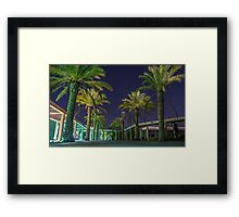 PALM TREES AT NIGHT Framed Print