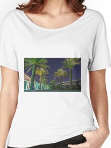 PALM TREES AT NIGHT Women's Relaxed Fit T-Shirt