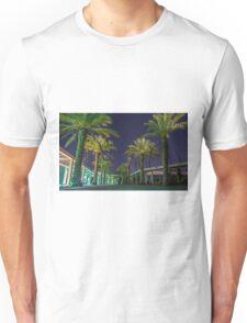 PALM TREES AT NIGHT Unisex T-Shirt