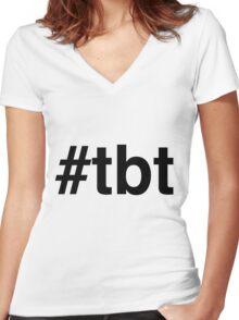 #tbt Hashtag Throw Back Thursday Women's Fitted V-Neck T-Shirt