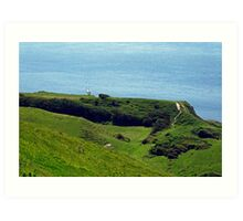 St Catherine's Point from Gore Cliff Art Print
