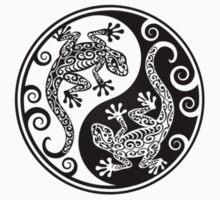 Black and White Yin Yang Geckos Kids Clothes