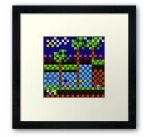 Pixel Sonic Framed Print