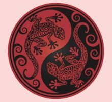 Red and Black Yin Yang Geckos Kids Clothes