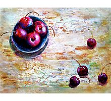 Cherries... with a Picnic Table Photographic Print