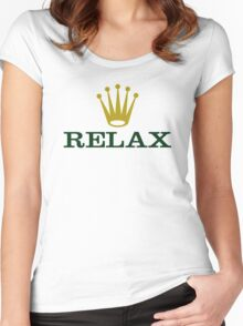 Relax Women's Fitted Scoop T-Shirt