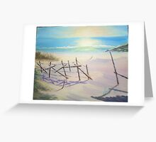 Lonely beach Greeting Card