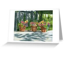Dance of Shadows Pastel Greeting Card