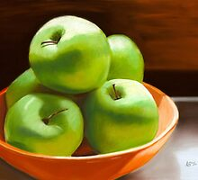 An Apple a Day Pastel by AngelaBishop