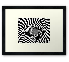 Black and White Spiral Framed Print