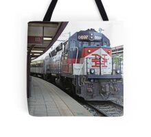 Shoreline East Commuter at New London Connecticut. Tote Bag