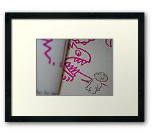 Monsters. Framed Print