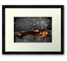 sleeping stars Framed Print