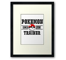 college pokemon Framed Print