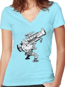 Badass Bazooka Women's Fitted V-Neck T-Shirt