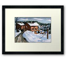 Snowed In Watercolor Framed Print
