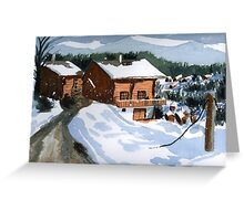 Snowed In Watercolor Greeting Card