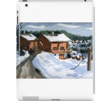 Snowed In Watercolor iPad Case/Skin