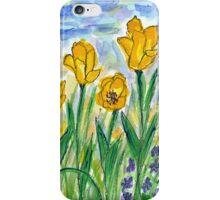 Yellow Tulips II Watercolor iPhone Case/Skin