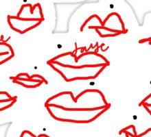 'Lips & Beauty Spots' Sticker