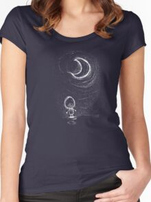 Serenade Me  (by the light of that moony thing) Women's Fitted Scoop T-Shirt