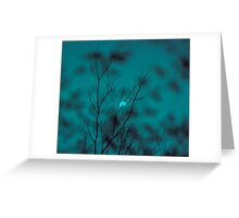 blue moon in june..... Greeting Card