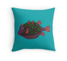 devil fish Throw Pillow