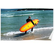 #379   Long Board Surfer Poster
