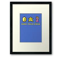Scarface parody Mario Bros Framed Print