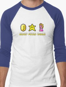 Scarface parody Mario Bros Men's Baseball ¾ T-Shirt
