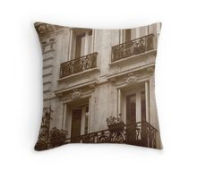 Backstreets of Paris two.. Throw Pillow